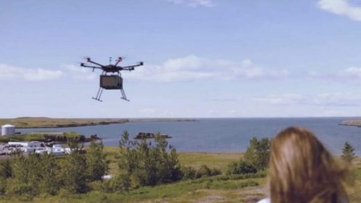 Iceland drone delivery